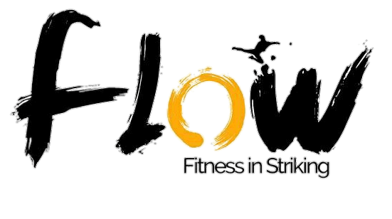 Flow fitness in striking logo